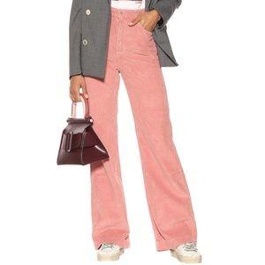 GRLFRND Pink Corduroy 'Carla' Wide Leg Pants